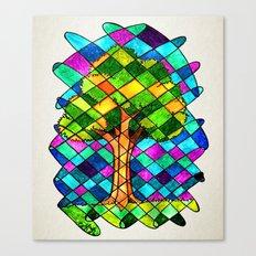 Tree Jumble Canvas Print
