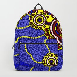 Authentic Aboriginal Art - Untitled Backpack