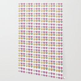valentine hearts white Wallpaper