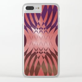 Angry Symmetry - Red Clear iPhone Case