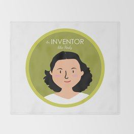 An Inventor like Hedy Lamarr Throw Blanket