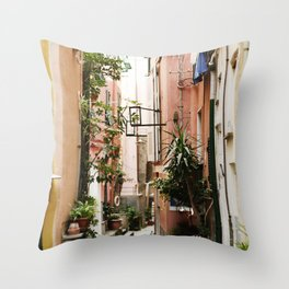 The Streets Of Italy Throw Pillow