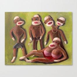 The Forgotten Sock Monkeys Canvas Print