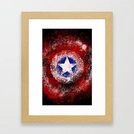 Avengers - Captain America Framed Art Print