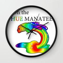 Oh the Hue Manatee Wall Clock