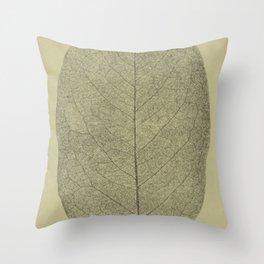 Botanical Leaf Throw Pillow