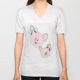 Piggies in Color Unisex V-Neck