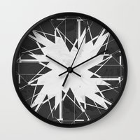 carnage Wall Clocks featuring PLACE Triangle V2 by Sitchko Igor