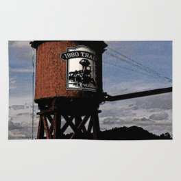 1880 Train Watertower Black Hills Abstract Rug