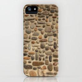 Mosaic Pebble Wall iPhone Case