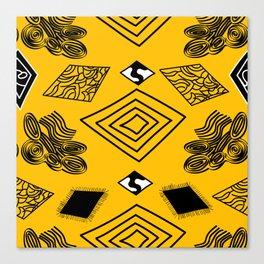 Yellow and Black Diamonds Canvas Print