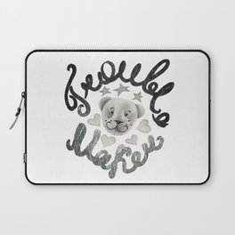 Trouble maker teddy bear Laptop Sleeve