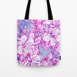 HIBISCUS FTW Tropical Pink Floral Tote Bag
