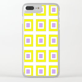 Tribute to mondrian 8- piet,geomtric,geomtrical,abstraction,de  stijl , composition. Clear iPhone Case