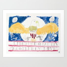 liberty eagle Art Print