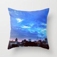 atlanta Throw Pillows featuring Atlanta.  by calvin./CHANCE