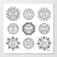 astrology Canvas Prints featuring Astrology 3 by Karthik