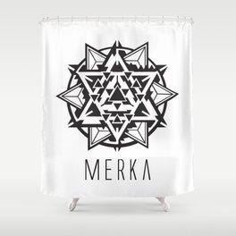Galatic Merkaba Shower Curtain
