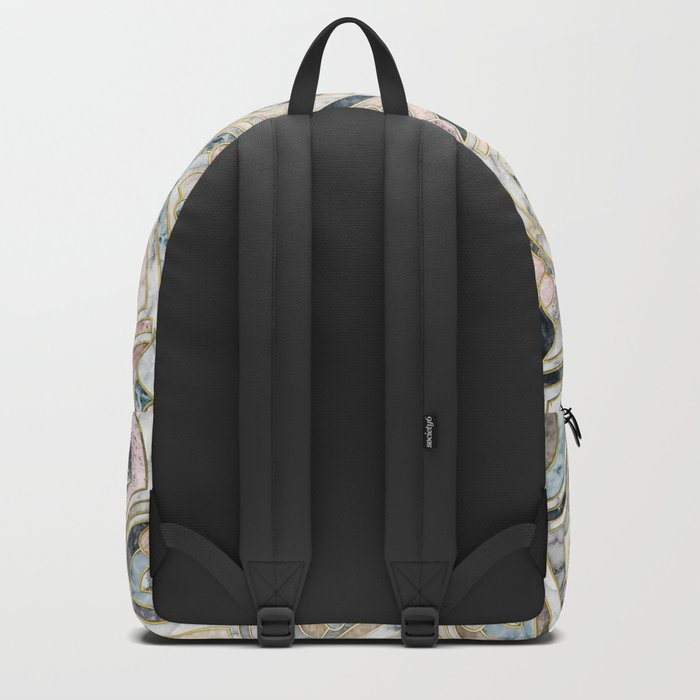 Art Deco Marble Tiles in Soft Pastels Backpack