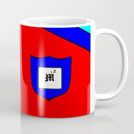 A Family Crest with a Capital Letter M, Mu Coffee Mug