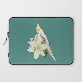 Pied Cockatiel Laptop Sleeve