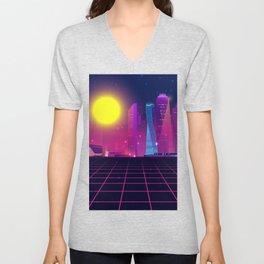 Synth City Unisex V-Neck
