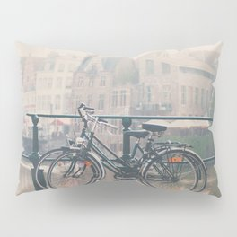 a bicycle date in Ghent Pillow Sham