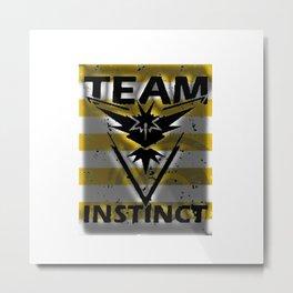 Team Instinct Strip Metal Print