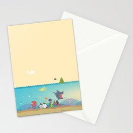 What's going on at the sea? Kids collection Stationery Cards