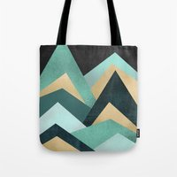 waves Tote Bags featuring Waves by Elisabeth Fredriksson