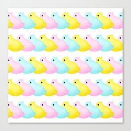 Peeps Pattern Canvas Print