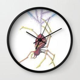 Rainbow Spider Wall Clock