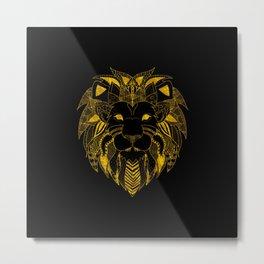 Amazing Zentangle LION Metal Print