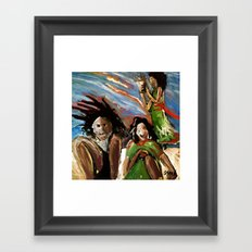 Egg in the Sky Framed Art Print