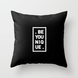 YOU AND YOURSELF (BLK) Throw Pillow