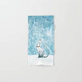 Winter Cat Hand & Bath Towel