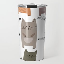 cute cats pattern Travel Mug