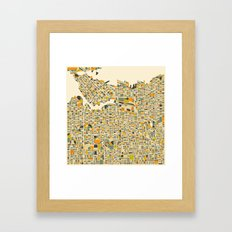 VANCOUVER Map Framed Art Print