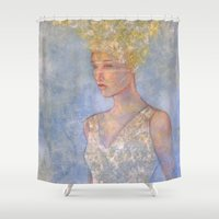 focus Shower Curtains featuring Focus by Hinterland Girl