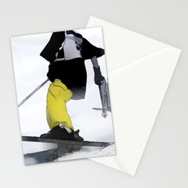 Ski Run Finish Stationery Cards