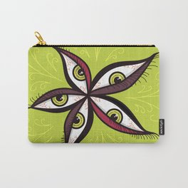 Tired Green Eyes Flower Carry-All Pouch
