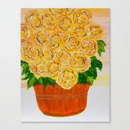 Art-ichoke flowers in basket Canvas Print