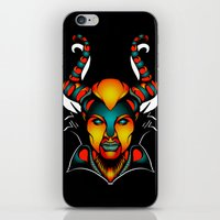 maleficent iPhone & iPod Skins featuring Maleficent by Quakerninja