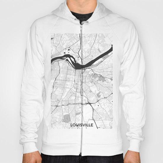 Louisville Map Gray Hoody