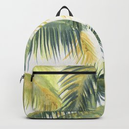 Tropical Palm Leaves Backpack