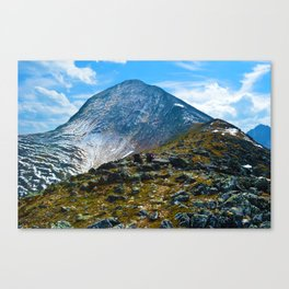 Pyramid Mountain in Jasper National Park, Canada Canvas Print