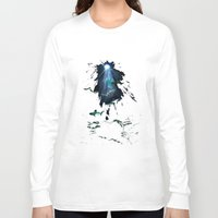sharks Long Sleeve T-shirts featuring Sharks by Naomi Bardoff