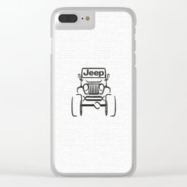 Jeep only Clear iPhone Case