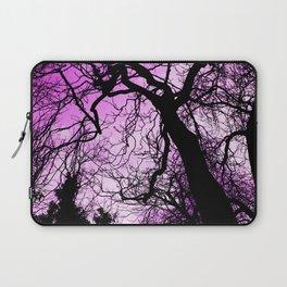 Purple evening moon through the trees Laptop Sleeve