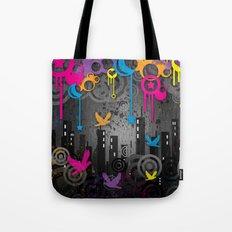 Vector City Grunge. Tote Bag
